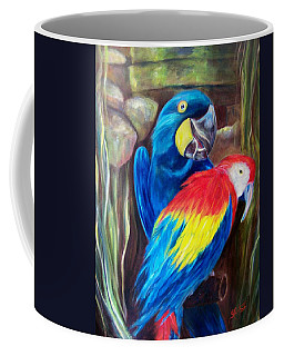 Bird's Of A Feather, Macaws Coffee Mug