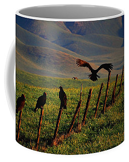 Coffee Mug featuring the photograph Birds On A Fence by Matt Harang