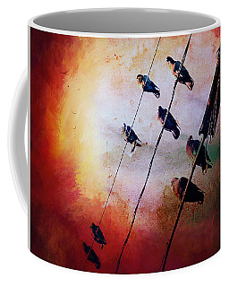 Birds On A Wire Coffee Mug by Micki Findlay