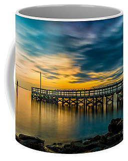 Birds On The Dock Coffee Mug