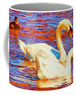 Birds On The Lake Coffee Mug