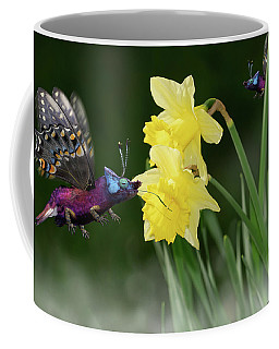 Coffee Mug featuring the photograph Birguana Taster by Arthur Fix
