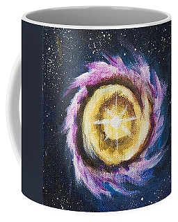 Coffee Mug featuring the painting Birth Of A Star by Yulia Kazansky