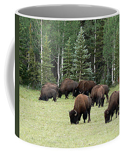 Bison At North Rim Coffee Mug by Laurel Powell