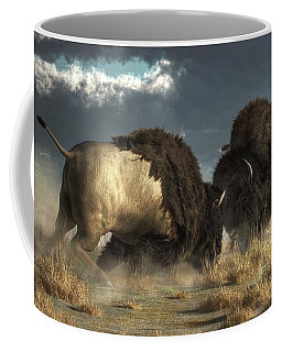 Bison Fight Coffee Mug