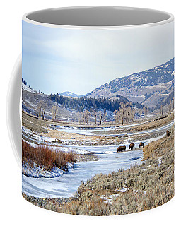 Bison In Lamar Valley Coffee Mug