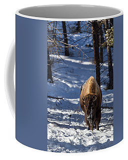 Coffee Mug featuring the photograph Bison In Winter by Michael Chatt