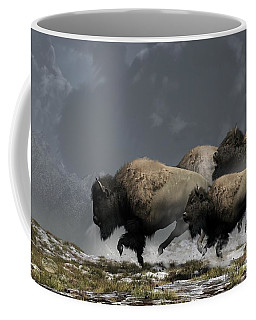 Bison Stampede Coffee Mug