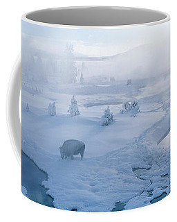 Bison West Thumb Geyser Basin Coffee Mug by Panoramic Images