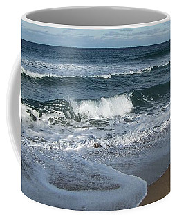 Coffee Mug featuring the photograph Winter Beach  by Eunice Miller