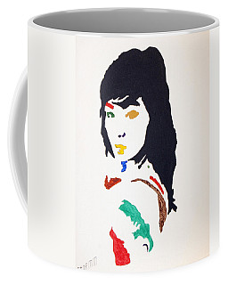 Coffee Mug featuring the painting Bjork by Stormm Bradshaw