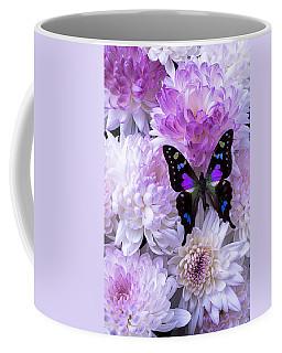 Black And Purple Butterfly On Mums Coffee Mug