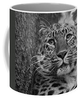 Black And White Amur Leopard Coffee Mug