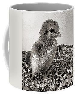 Black And White Baby Chicken Coffee Mug