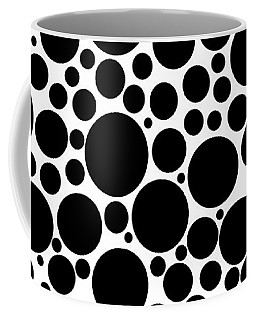 Black And White Bubbles Coffee Mug