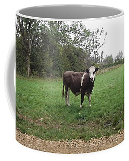 Black And White Bull Coffee Mug