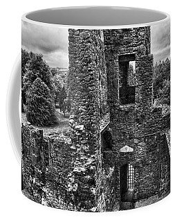 Black And White Castle Coffee Mug