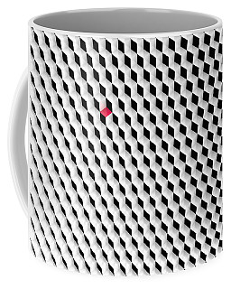 Black And White Cubes With One Red Cube. Coffee Mug
