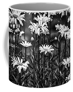 Black And White Daisies Coffee Mug