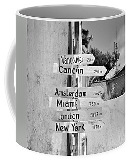Black And White Directional Sign Coffee Mug