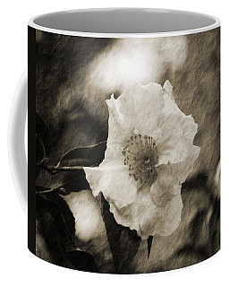 Black And White Flower With Texture Coffee Mug