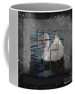 Black And White Goose Artwork Coffee Mug
