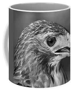 Black And White Hawk Portrait Coffee Mug