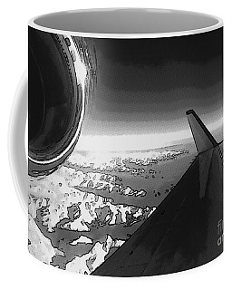 Coffee Mug featuring the photograph Jet Pop Art Plane Black And White  by R Muirhead Art