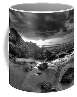 Black And White Laguna Beach Coffee Mug