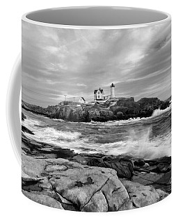 Black And White Painted Seascape Coffee Mug