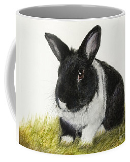 Black And White Pet Rabbit Coffee Mug by Kate Sumners