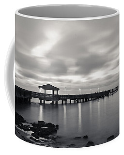 Black And White Pier Coffee Mug by Scott Meyer