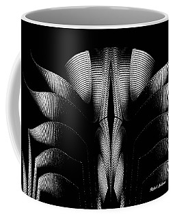 Coffee Mug featuring the mixed media Black And White by Rafael Salazar