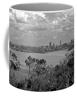 Coffee Mug featuring the photograph Black And White Sydney by Miroslava Jurcik