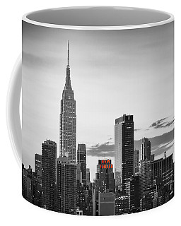 Black And White Version Of The New York City Skyline With Empire Coffee Mug