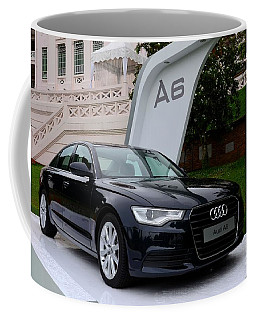 Black Audi A6 Classic Saloon Car Coffee Mug