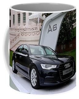 Black Audi A6 Classic Saloon Car Coffee Mug