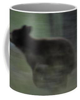 Black Bear Cub Running Coffee Mug