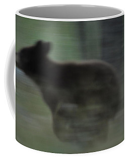 Black Bear Cub Running Coffee Mug