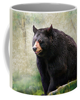 Coffee Mug featuring the painting Black Bear by Mary Almond