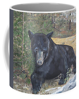 Black Bear - Wildlife Art -scruffy Coffee Mug by Jan Dappen