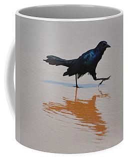 Black Bird - Strutting At The Beach Coffee Mug