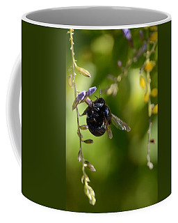 Black Bumblebee Coffee Mug by Debra Martz