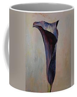 Black Calla Lily Coffee Mug