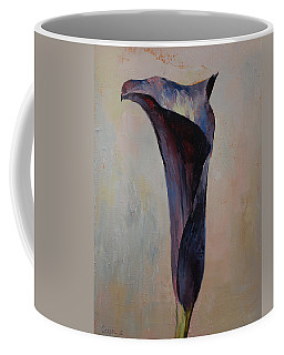 Black Calla Lily Coffee Mug