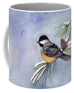 Coffee Mug featuring the painting Black-capped Chickadee by Katherine Miller
