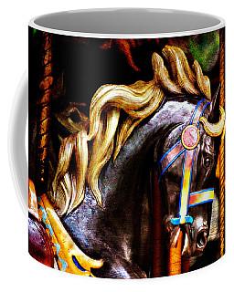 Black Carousel Horse Coffee Mug