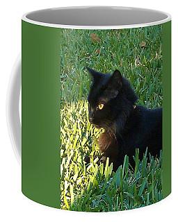 Black Cat Coffee Mug by Deborah Lacoste