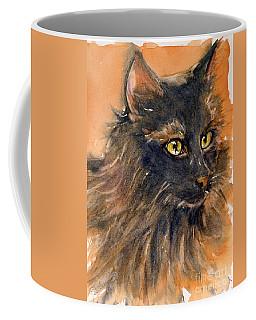 Black Cat Coffee Mug by Judith Levins