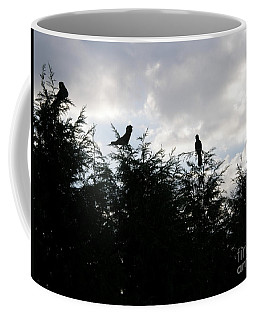 Black Cockatoos In Treetops Coffee Mug by Bev Conover